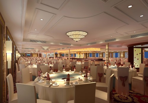 Restaurant auf dem Schiff. Foto: Gebeco