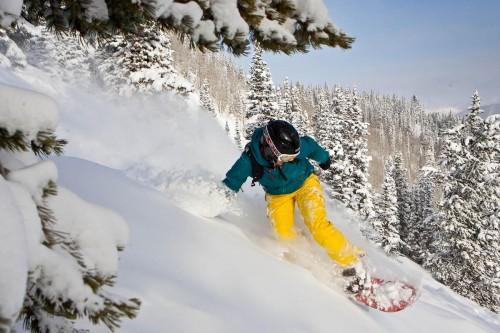 Snowboard in Aspen. Foto: Aspen /Snowmass