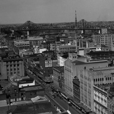 Blick von der City Hall, 1952. Courtesy Brisbane City Council.