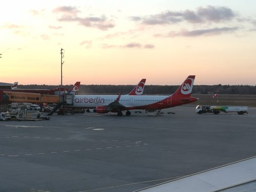 Airberlin am Boden  am Flughafen Tegel, Foto: Flying Media