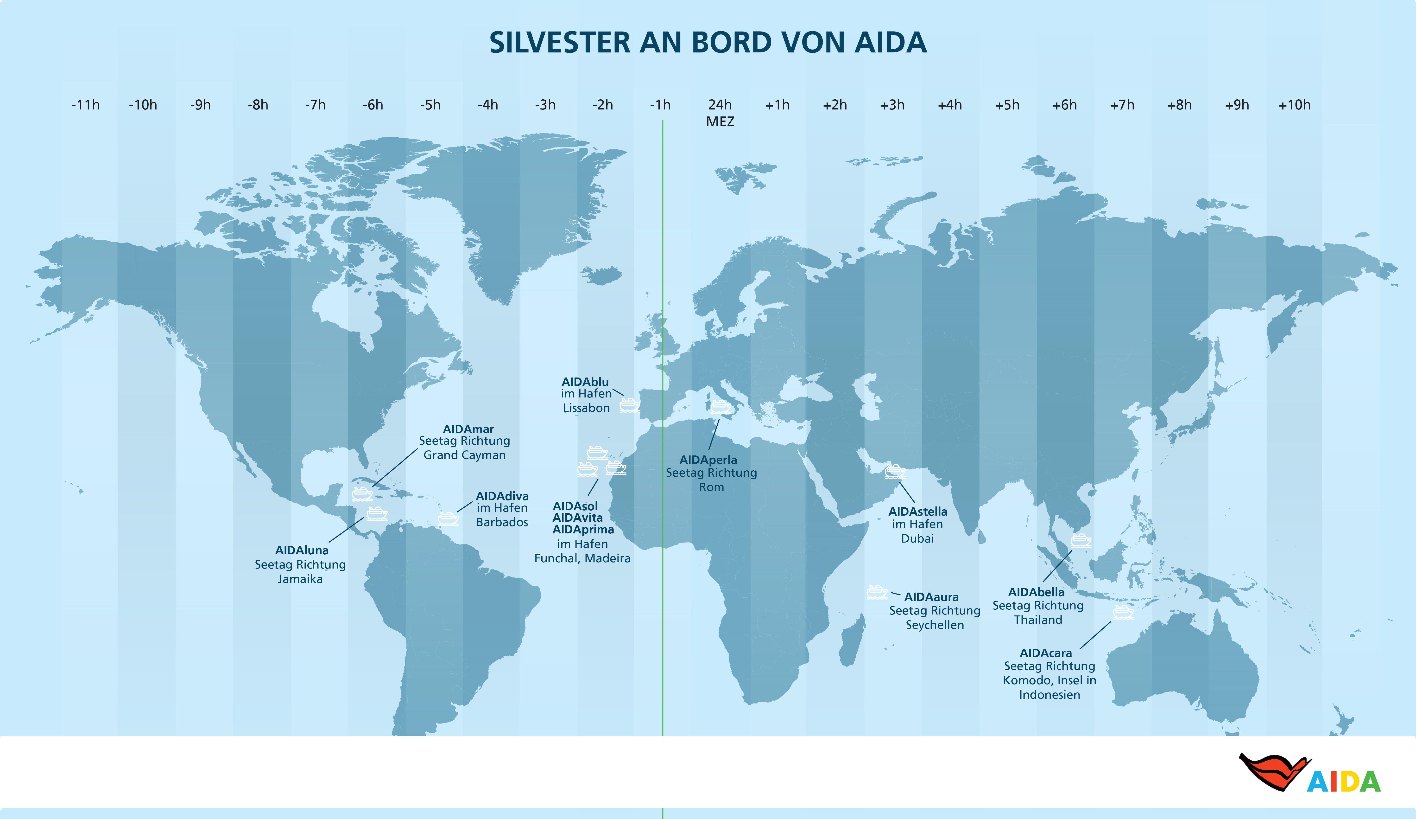 Aida Weltkarte